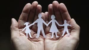 Hands holding familiy